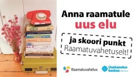 Raamatuvahetus ja Uuskasutuskeskus kutsuvad raamatuid uuele ringile andma