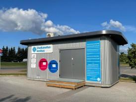 Uuskasutuskeskuse esimene kogumismaja nüüd Tartu Lõunakeskuse välialal avatud